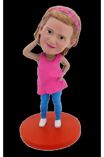 Custom made bobblehead little girl