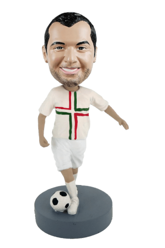 Figurine personnalisée footballeur heureux