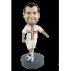 Custom bobblehead happy soccer player