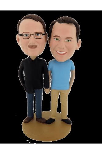 Custom bobbleheads couple of men