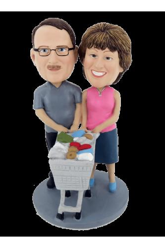 Figurine personnalisée faisons les courses