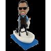 Figurine personnalisée pêche en bateau