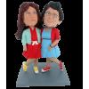Personalisierten Figuren Paar beste freunde