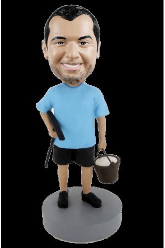 Figurine personnalisée laveur de vitre