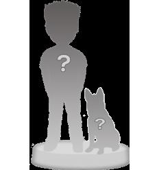 Full custom bobblehead 1 person + 1 Pet