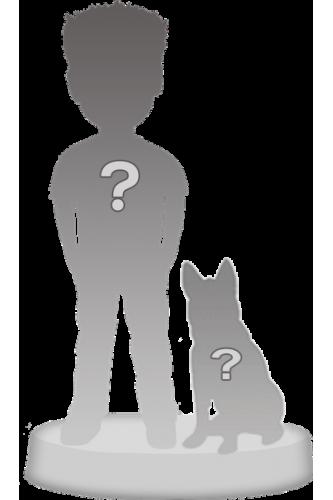 Figurine personnalisée à 100% 1 personne + 1 Animal