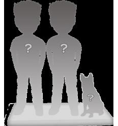 Full custom bobbleheads couple + 1 Pet