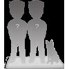 100% Personalisierte Figuren Paar + 1 Tier