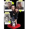 Figurine personnalisée à 100% de couple + 1 Animal