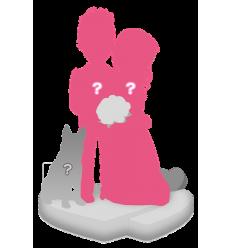 Figurine personnalisée de mariage (100%) + 1 animal