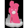 Full custom wedding bobbleheads + 1 animal
