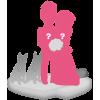 Figurine personnalisée de mariage (100%) + 2 animaux