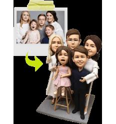 Figurine personnalisable 5 personnes