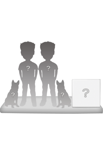 100% Personalisierte Figuren Paar + 2 Tiere + Dekor Größ XL
