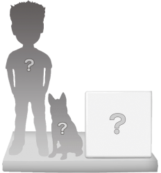 100% personalizierte Figur 1 Person + 1 Dekor + 1 Tier
