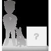 Full custom bobblehead 1 person + 1 backgound + 1 Pet