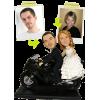 Figurine personnalisée de mariage (100%) + 1 moto
