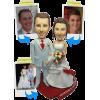 Figurina di matrimonio 100% personalizzabile