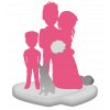 Figurine personnalisée de mariage (100%) + 1 enfant + 1 animal