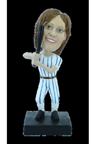 Personalizierte Figur Frau Baseball-Spieler
