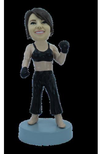 Figura personalizable Mujer boxeador