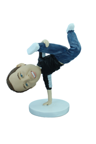 Figurine personnalisée break dancer