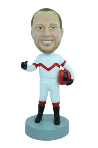 Custom bobblehead Racing driver