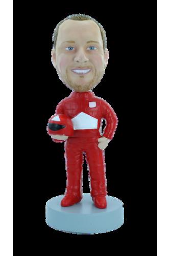 Figurine personnalisée en coureur de formule 1
