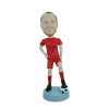 Figurine personnalisée  en footballeur dribbleur