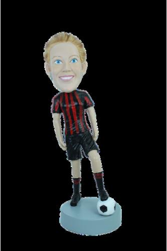 Figurine personnalisée en femme arbitre de foot