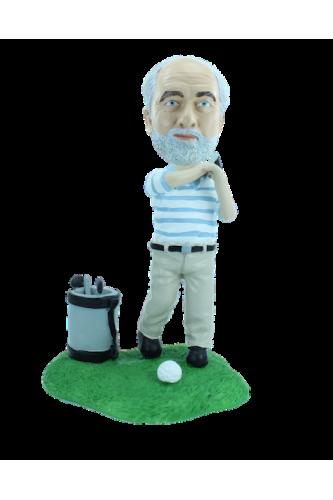 Figurine personnalisée en golfeur pro