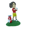 Figura personalizable Mujer golfista profesional