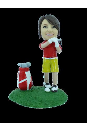 Figurine personnalisée en golfeuse pro