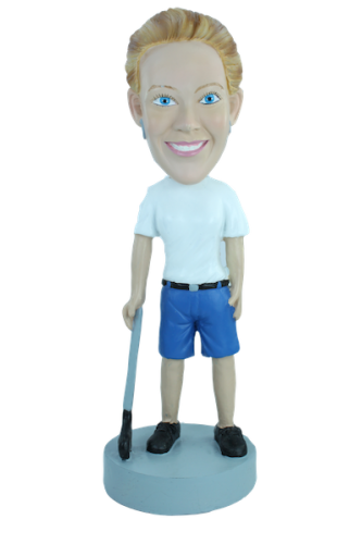 Custom bobblehead Woman golfer