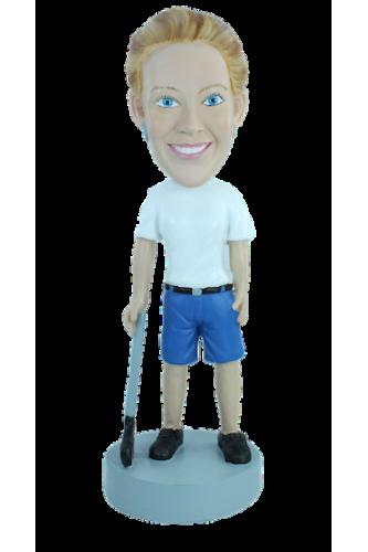 Figurine personnalisée en golfeuse