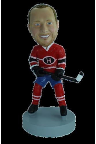 Figurine personnalisée en hockeyeur