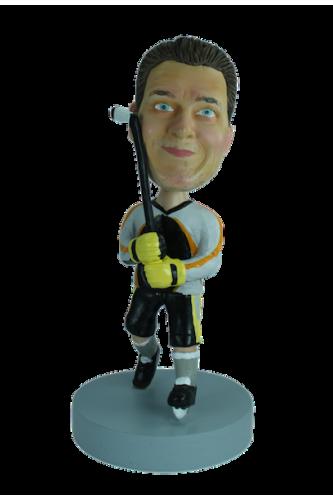 Figurine personnalisée en hockeyeur pro