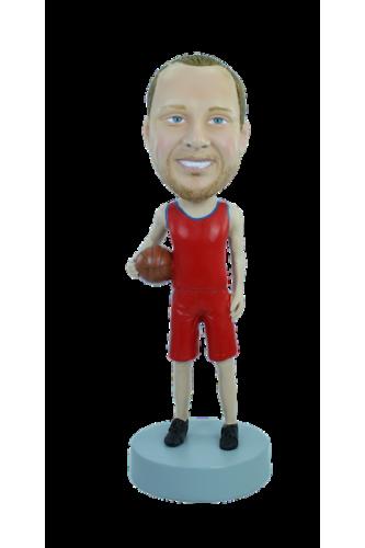 Personalizierte Figur Ich liebe Basketball