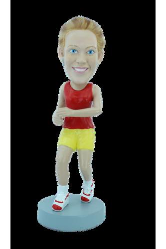 Custom bobblehead Jogging
