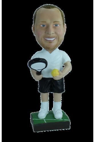 Figurine personnalisée en joueur de tennis