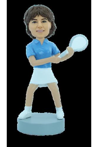 Figurine personnalisée joueuse de tennis