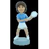 Figura personalizable Mujer jugador de tenis