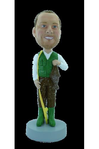 Figurine personnalisée de pêcheur