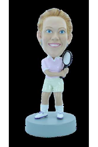 Personalizierte Figur Tennisfrau