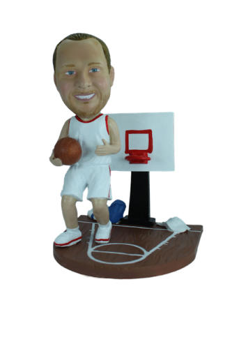 Custom bobblehead Basketball court
