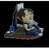 Figurine personnalisée sur un terrain de basket