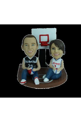 Custom bobblehead Our basketball court