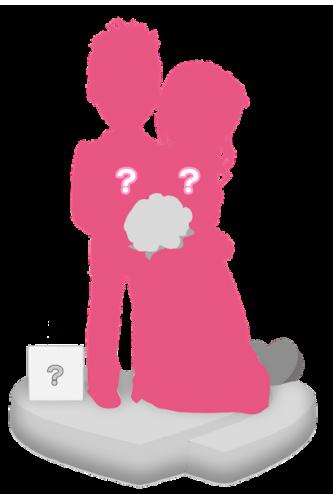 Figurine personnalisée de mariage (100%) + accessoire taille S