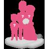 Figurine personnalisée mariage avec 1 enfant