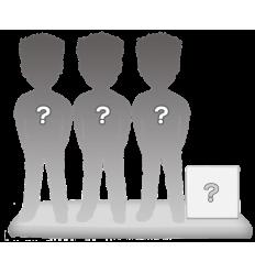 100% personalizierte 3 personen Figuren + Zubehörteil Größe M